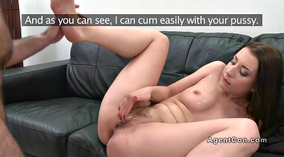 Fake, Fake agent, Cum on pussy, Amateur casting, Fake pussy