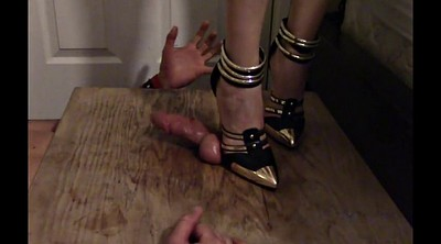 Cbt, Heels, High heels, Trample, Trampling, Bondage foot