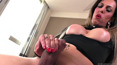 Closeup, Dildo and cock, Brazilian shemale