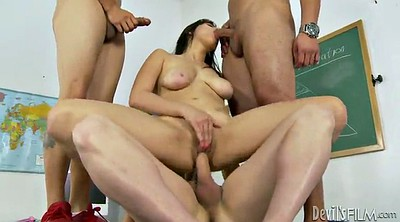 Double anal, Shitting, Classroom, Dp anal