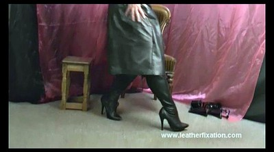 Leather, Dirty talk, Wank, Leather boots, Boot