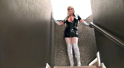 Latex, Gloves, Milf boots, Pantyhose milf