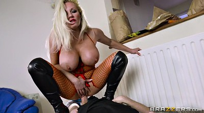 Boots, British, Big boot, Big tits mom