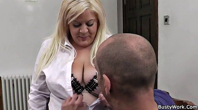 Boss, Secretary, Office bbw, Bbw blonde, Office boss
