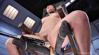 Machine, Sybian, Tied up, Hairy masturbation, Fucking machine, Bondage orgasm