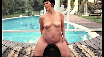 Grandma, Sybian, Bbw riding