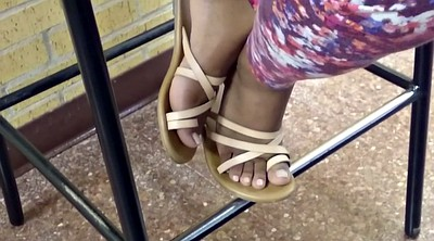 Candid feet, College, Candid, Ebony foot, Ebony feet