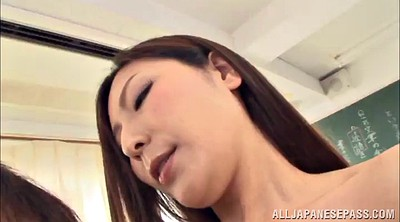 Long, Asian teacher, Handjobs