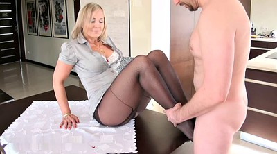 Pantyhose feet, Footjob pantyhose