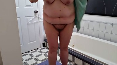 Belly, Big belly, Shower, Nipples hairy, Bbw shower