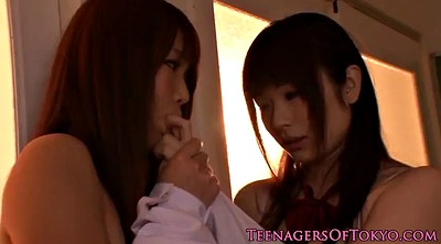 Japanese teen, Secret, Japanese kiss, Japanese schoolgirl, Japanese lesbian kiss, Secretly