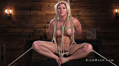Hogtied, Whipping, Busty blond