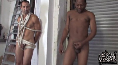 Wife, Wife watching, Wife watches, Black bondage, Tied fucked, Husband watches