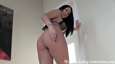 Femdom cumshot, Punished, Caught masturbating