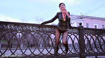 Jeny smith, Public flashing, Heels pantyhose, Flash public