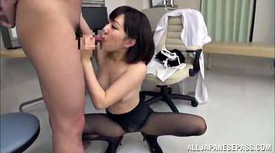 Nurse, Pantyhose handjob, Nursing, Finger in pussy, Asian nurse