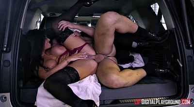 Bus, Romi rain, Brunette, Sexy fuck, Sexy lingerie, In bus