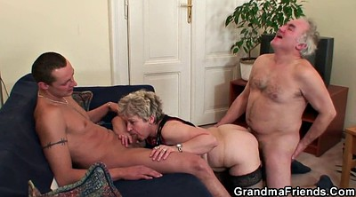 Old teacher, Gangbang wife, Wife threesome, Wife gangbang, Old couple, Granny gangbang