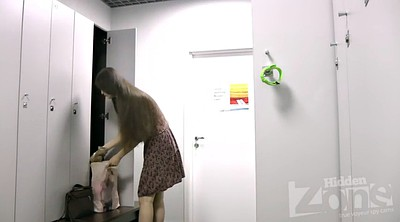Hidden camera, Teen blonde, Locker room
