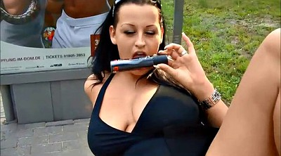 Stick, Pussy piercing, Chubby outdoor, Chubby flash