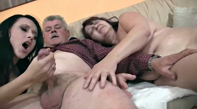 Mature, Young, Old couple, Nasty, Granny group, New