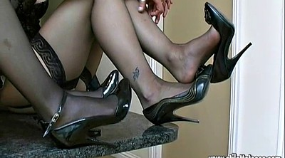 Nylon foot, Nylon high heels, High shoes, High heels nylon