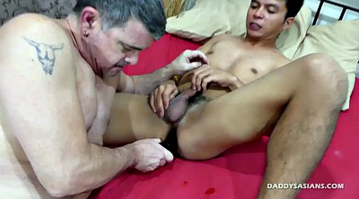 Asian boy, Young boy, Old gay, Big dildo, Young dildo, Mike