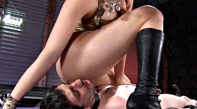 Latex, Facesitting, Sit face, Latex bondage