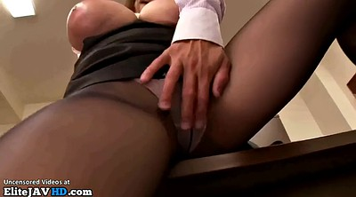 Japanese office, Japanese massage, Japanese secretary, Pantyhose milf, Pantyhose, Japanese boobs