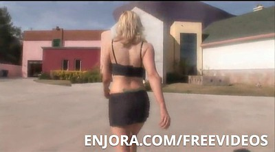 Young blonde, Stretching, Blacked com