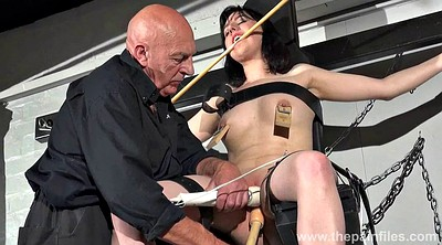 Old man, Nipples, Vibrator, Pussy spanking, Teen nipples