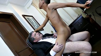 Daddy, Asian office, Asian gay, Secretary, Old gay, Officer