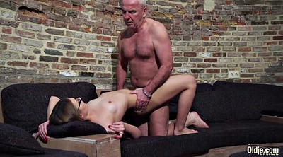 Small girl, Beautiful, Young and old, Granny swallow, Granny cumshot