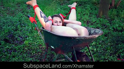 Swallowing, Pierced, Humiliated, Outdoor swallow, Humiliation