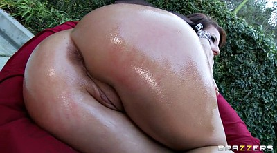 Deepthroat, Outdoors, Oil ass