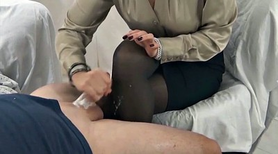 Nylon feet, Nylon handjob, Cum on feet, Pantyhose feet
