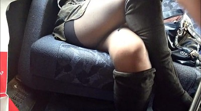 Under table, Upskirt pantyhose, Under