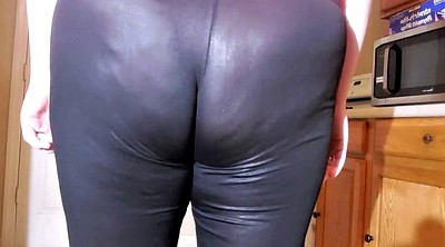 Leather, Spandex, Panties, Leggings, No panties, No panty