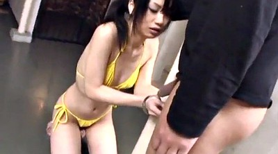 Japanese throat, Japanese bondage, Japanese blowjob, Asian bondage, Uehara, Japanese bikini