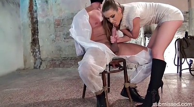 Bondage, Tied, Tied to chair, Tied handjob