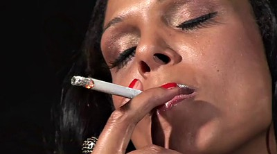 Smoking, Nylon cock, Smoking fetish, Smoking blowjob, Nylon blowjob, Debut