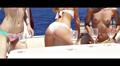 Nancy, Lesbian threesome, Boat, Outdoor masturbation