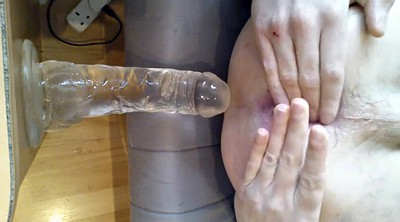 Gaping, Huge dildo anal