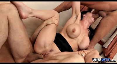 Friend, Cheat husband, Wife gangbang