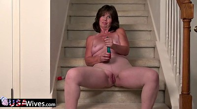 Mature solo, Granny masturbation, Mature masturbating