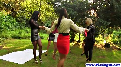 Lesbian pissing, Lesbian piss, Pissing lesbian, Piss group, Outdoor piss