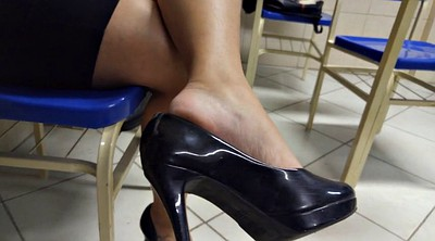 High heels, Brazilian, Candid, Foot fetish