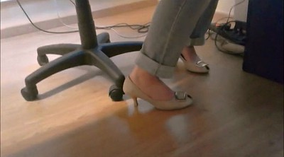 Footing, Table, Under table, Candid feet
