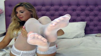Stockings, White stockings, White stocking, Lick foot
