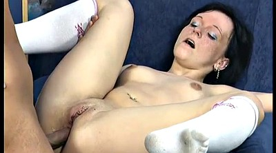 First anal, German granny, Picking up, Anal granny